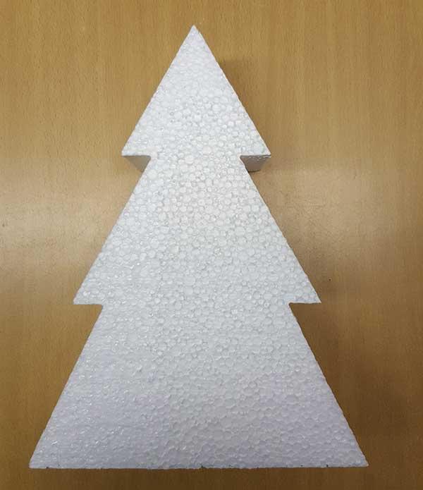 Christmas Tree Polystyrene Shape For Decorating